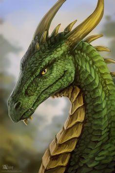 Gold Dragon, Green Dragon, Dragon Art, Under Stairs Playhouse, Green And Gold, Lion Sculpture, Creatures, Deviantart, Statue