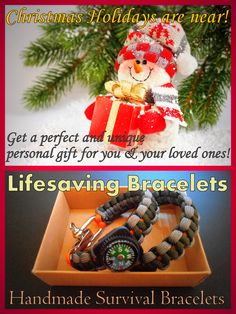 Christmas is coming soon! There is nothing better than a personal handmade gift for you and your loved ones! Find your favorite survival bracelet from the huge collection of colors and designs and we will create it for you!  #lifesavingbracelets #xmas #gift #holidays #handmade #survivalbracelets