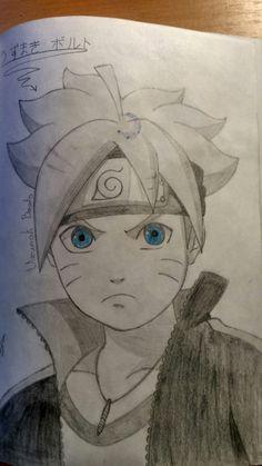 This is Boruto. so, from the Boruto. Kid Kakashi, Naruto Minato, Naruto Art, Anime Naruto, Sasuke Drawing, Naruto Drawings, Cool Drawings, Anime Films, Anime Characters