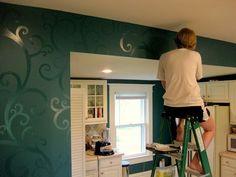 Make your own wallpaper. Gloss paint on matt.