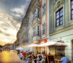 This was shot in the streets of Dresden. I had just grabbed a snack to carb up before the upcoming sunset. These sunsets are supposed to be relaxing, but I had to hot-foot it around from location to location to squeeze it all into the hour. - Dresden, Germany - Photo from #treyratcliff Trey Ratcliff at http://www.StuckInCustoms.com