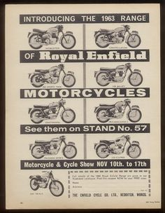 1963 Royal Enfield    UK