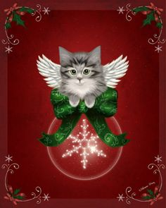 """Happy Holidays Cat"" par Melissa Dawn"