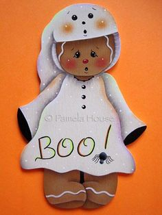 Boo Ghost Gingerbread Witch e-Pattern by Pamela House