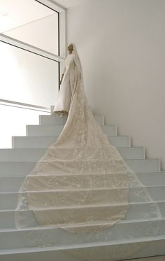 simply stunning vintage Valentino cathedral style wedding dress