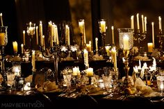 beautiful candlelit ceremony and wedding reception by evantine design // mary beth tyson photography
