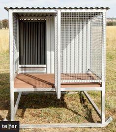 $ 1,320.00 one bay kennel http://workingdogz.com.au/ads/raised-dog-kennels/