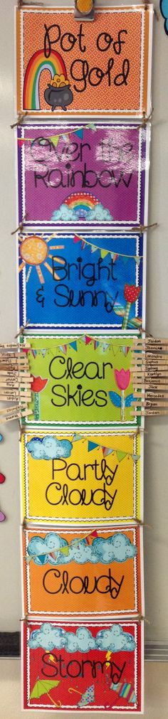 Totally Terrific in Texas: Weather Themed Behavior Clip Chart