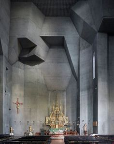 Modernist Church Photography by Fabrice Fouillet 12