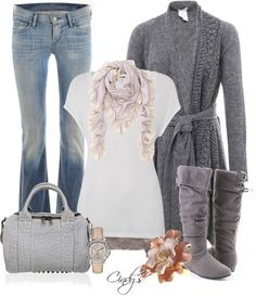 "Fall 2013 outfits | Fall/Winter 2012/2013 Outfits / ""Belted Cardigans!"" by cindycook10 on ..."