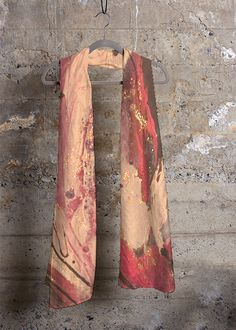 Cashmere Silk Scarf - Marble Carving Cashmere S by VIDA VIDA SPe16oBng
