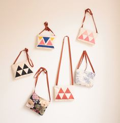 Vintage and geometric patterned leather bags. These are for you @Skye James Lovelady :)