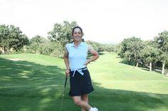 #Polo golf técnico mujer. Fabricado en poliéster bioactive. Cuello y mangas con elástico ribeteados. Tapeta de cuadros contrastada. Logotipo Polo Swing bordado. Tallas: S, M, L, XL.
