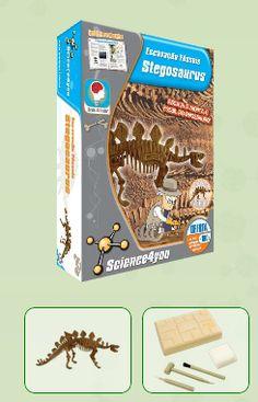 ESCAVAÇÃO FÓSSEIS - STEGOSAURUS  Descobre: - O que são fósseis - Qual a causa de extinção dos dinossauros - Quais as melhores técnicas de escavação - O que é a Paleontologia - Características e curiosidades do Stegosaurus
