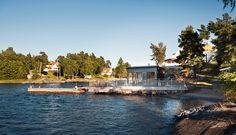 Sekelskifte på strandtomt med kvällssol Boat House, Saunas, Cabin, Cabins, Steam Room, Cottage, Cubicle