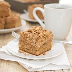 Sweet Peas Kitchen » Coffee Cake with Crumble Topping and Brown Sugar Glaze (This made me hungry)