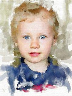 Portrait/ face【怒波·鱼】:俄罗斯 Vitaliy Shchukin 的水彩肖像画 - 君子之交 - 君子之交博客