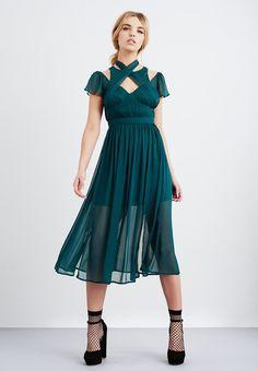 Lost Ink CHIFFON - Sukienka koktajlowa - green za 223,2 zł (10.03.18) zamów bezpłatnie na Zalando.pl.