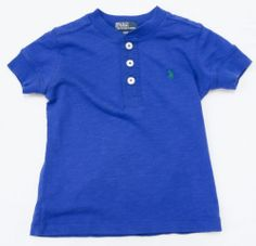 RALPH LAUREN POLO KIDS TOP LITTLE BOYS SHIRT MONACO BLUE SZ 2 - 2T #RALPHLAURENKIDS