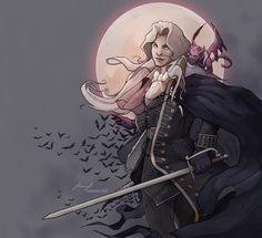 Alucard, Castlevania: Symphony of the Night. #alucard #castlevania #sotn #symphonyofthenight #fanart #vampire #vampires #digitalart