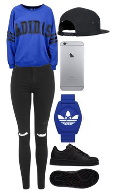 """""""Untitled #576"""" by aaliyahsalmon ❤ liked on Polyvore featuring Topshop, adidas and adidas Originals"""