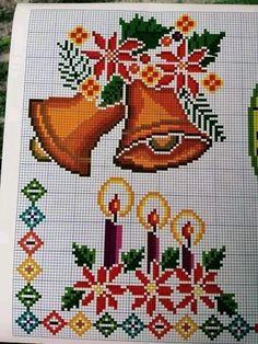 Cross Stitch Angels, Cross Stitch Cards, Cross Stitch Rose, Christmas Cross, Vintage Christmas, Cross Stitch Designs, Cross Stitch Patterns, Crochet Bedspread, Perler Bead Art