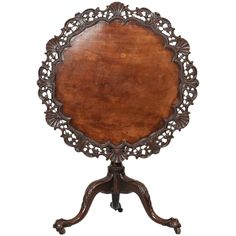George III Mahogany Occasional Table | From a unique collection of antique and modern center tables at https://www.1stdibs.com/furniture/tables/center-tables/