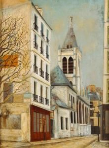 Maurice Utrillo Classic Paintings, European Paintings, Maurice Utrillo, Urban Painting, France Art, Georges Braque, Post Impressionism, Medieval Town, Henri Matisse
