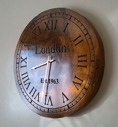 This is the clock I made on my CNC router More