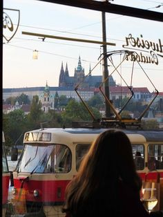 the famous Café Slavia, Prague