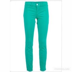 J Brand Women's Aqua and Green Denim Skinny Jeans Women's aqua and green colored, denim material, trouser and skinny style. Material is stretchy, and they're very comfortable. Very good condition. J Brand Jeans Skinny