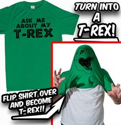 Ask Me About My TRex TShirt Funny Dinosaur Dino by BigtimeTeez, $14.99  Sam neeeeeds this!