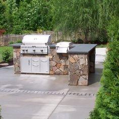 Backyard, Making A New Cooking Style with Outdoor Kitchen: Simple Outdoor Kitchen Design Simple Outdoor Kitchen, Outdoor Kitchen Plans, Outdoor Kitchen Countertops, Backyard Kitchen, Outdoor Kitchen Design, Outdoor Kitchens, Outdoor Spaces, Diy Kitchens, Granite Countertop