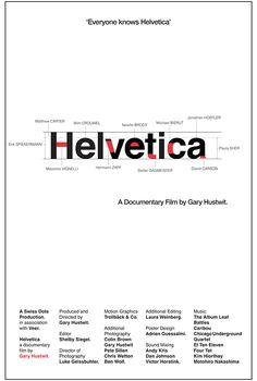 Helvetica Poster :: Adrien Guessaïmi Gary Huswit Documentary