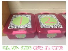 Castles and Crayons: Math Work Stations- organization and games for 1st