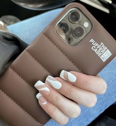 Girly Phone Cases, Diy Phone Case, Iphone Phone Cases, Nail Polish, Aesthetic Phone Case, Best Acrylic Nails, Fancy, Types Of Nails, Cute Cases