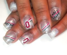 Ohio state nails by Pilar - Nail Art Gallery nailartgallery.nailsmag.com by Nails Magazine www.nailsmag.com #nailart