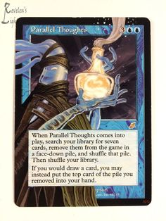 Parallel Thoughts - Extended MTG Alter - Revelen's Light Altered Art Magic Card #WizardsoftheCoast
