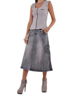 Fantastic Brushed Denim Skirt # CA-0563