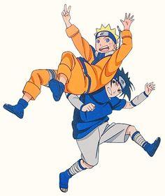 Uzumaki Naruto and Uchiha Sasuke Sasunaru, Naruto Uzumaki, Naruto And Sasuke, Naruto Team 7, Naruto Sasuke Sakura, Sarada Uchiha, Naruto Cute, Narusasu, Anime Naruto