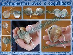 Castagnette * 1 * gemaakt met schelpen