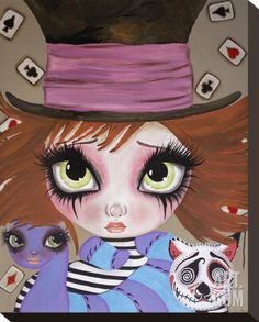 I Have Gone Mad Stretched Canvas Print by Dottie Gleason at Art.com