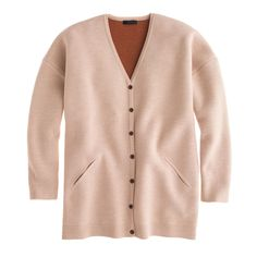 Collection bonded merino sweater-jacket