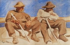 Albin Egger-Lienz, Resting Shepherds © Leopold Museum, Wien, Inv. 113