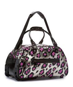 Heavy metal cheetah duffle bag -- betsey johnson