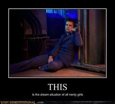 i hope they mean having David Tennant as The Doctor handcuffed to a pole so you can do what you want with him, not the whole handcuffing him so you can die part.<<< imagine how that sounds to someone outside the fandom Decimo Doctor, Good Doctor, Martin O'malley, David Tennant, Karen Gillian, Just In Case, Just For You, Demotivational Posters, Nerd Love