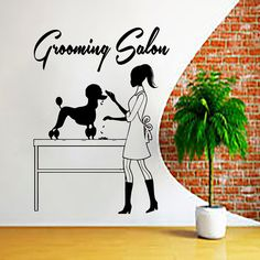 Wall Decals Grooming Salon Decal Vinyl Sticker Dog Tracks Pet Shop Home Decor Interior Design Bedroom Window Hall Art Mural Ah1