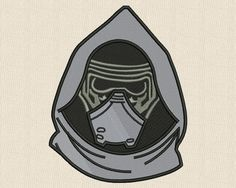 Star Wars Applique Embroidery Design Kylo Ren