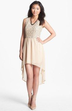 Blu Pepper Lace Bodice High/Low Dress (Juniors) on shopstyle.com