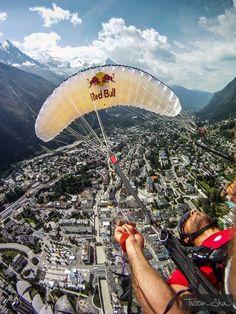 paragliding over Chamonix, France!!